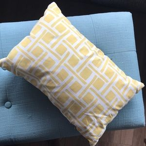 Throw pillow! Super soft fabric and soft pillow